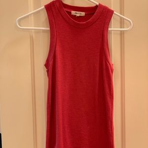Red Fitted Madewell Tank